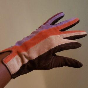 Cejon multi-colored gen suede winter gloves. XL